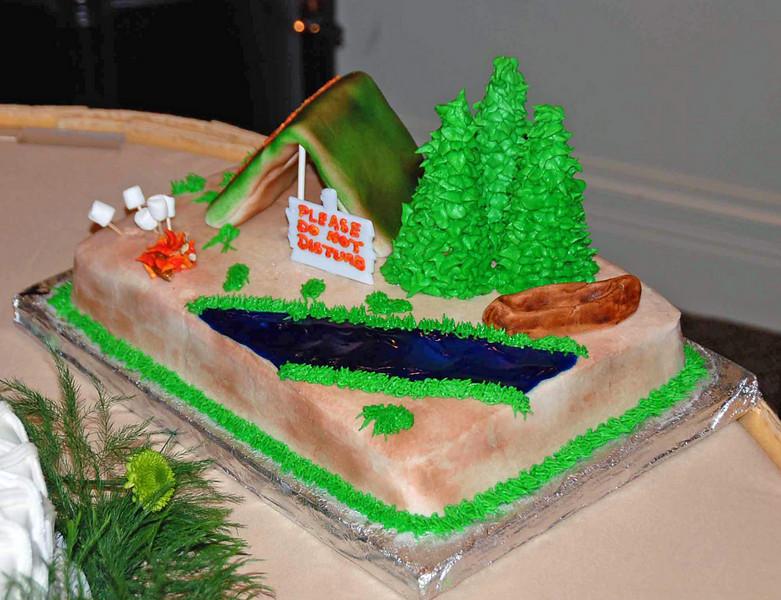 The groomsman cake.