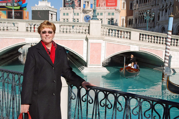 Jean by the Grand Canal at the Venetian Hotel.