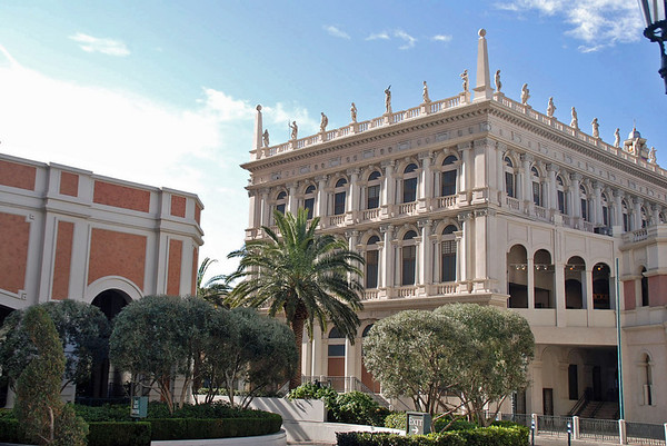 The architecture of the Venetian Hotel.