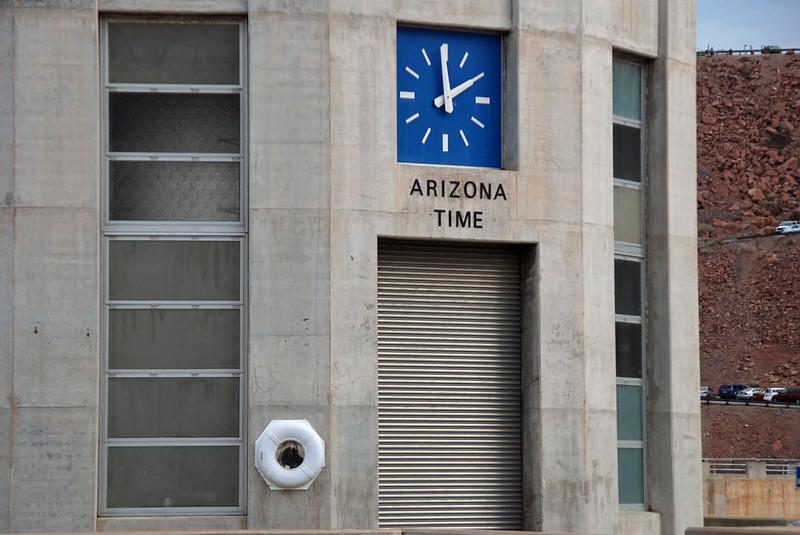 Arizona intake tower has a life preserver to collect tourists who fall over the edge.