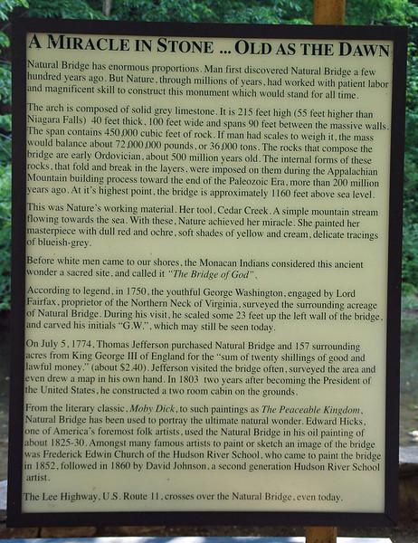 The story of Natural Bridge.