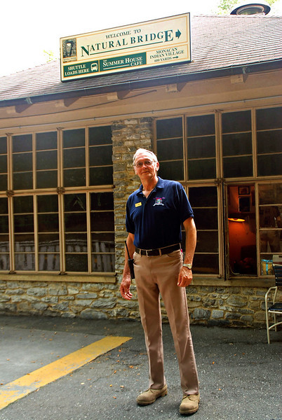 George, one of the staff at the Natural Bridge, is a very friendly person.