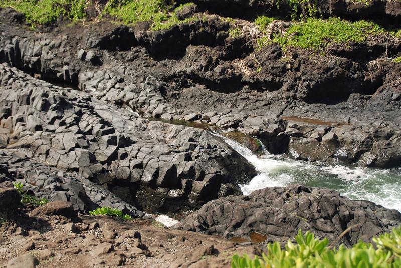Mountain stream makes its way to the coast.