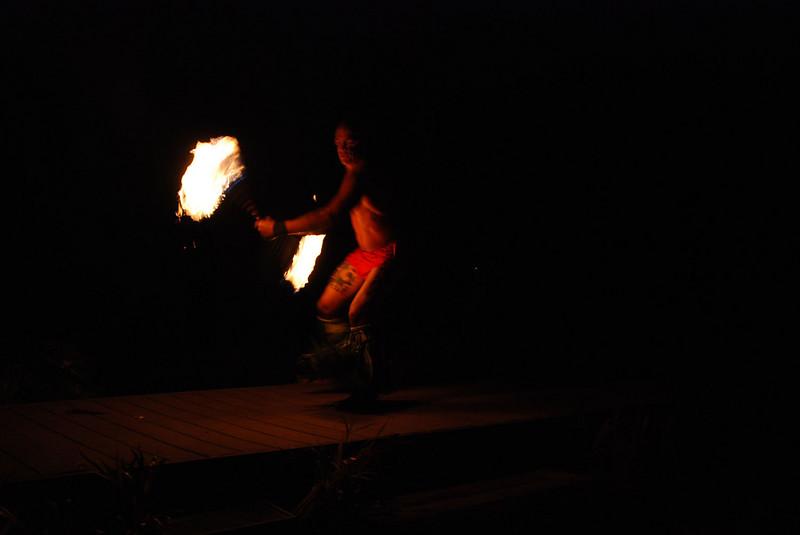 Feast at Lele -- fire dance.