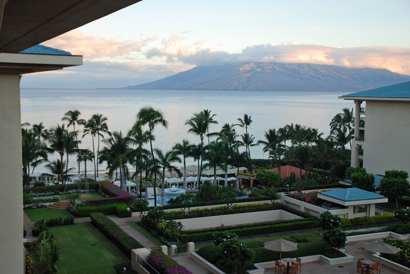 The view from our lanai at the Four Seasons Maui.