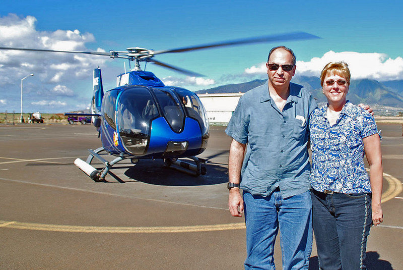 Ray and Jean after the helicopter tour.