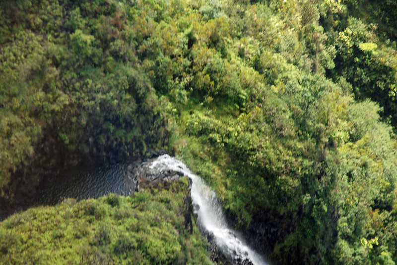 Remote mountain waterfall.