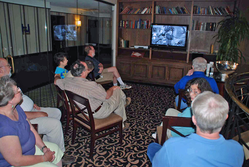 """The fencing club alumni gathered Saturday afternoon to watch """"The Avengers"""" videos and imbibe some lime sherbet punch."""