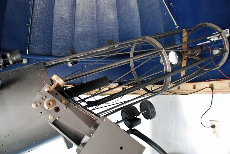 The 12-inch reflector in a separate dome on the roof of Dyer Observatory.