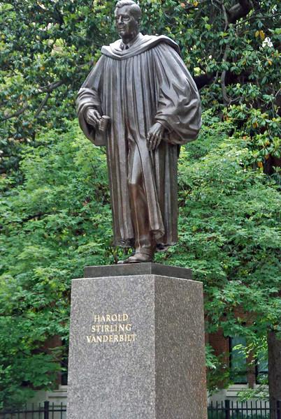 Statue of Harold Stirling Vanderbilt erected in 1965, he was president of the Vanderbilt Board of Trust 1955-1968.