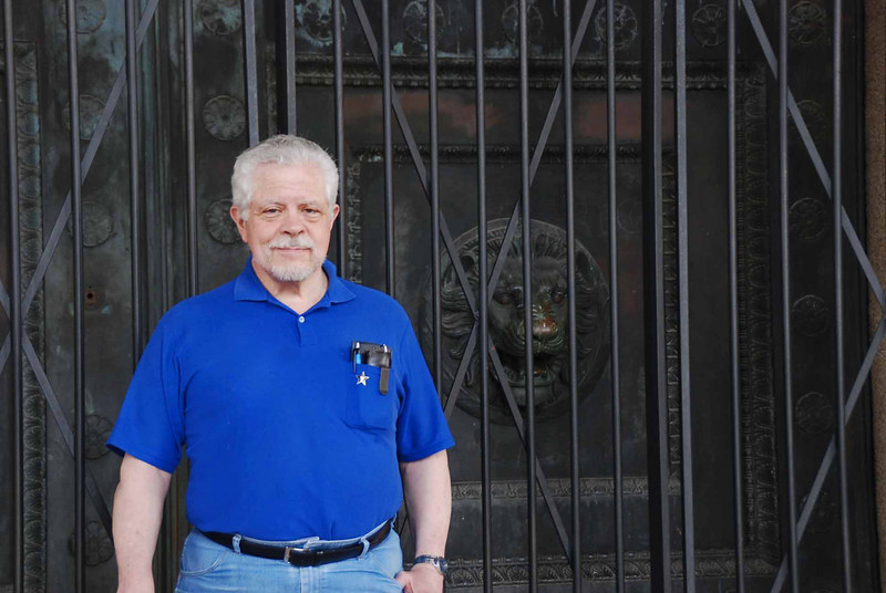Steve Block at the Parthenon.