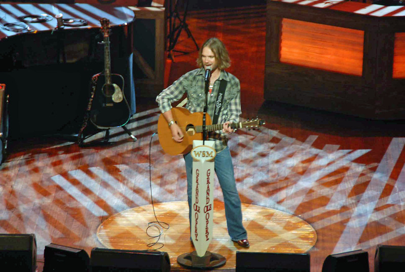 Bo Bice at the Grand Ole Opry.