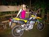 Our rented Kawasaki 250 supermoto.  Awesome bike.