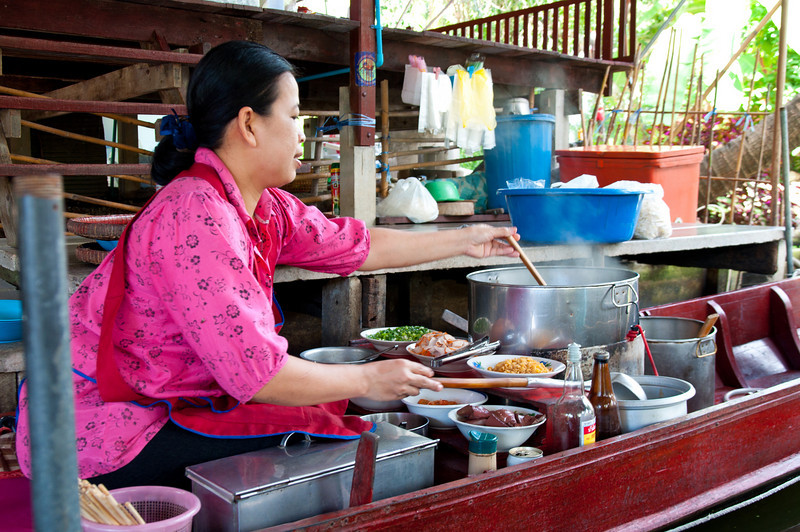 A vendor making our lunch.