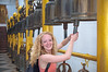 Ringing the bells at the famous wat (temple) on the hill