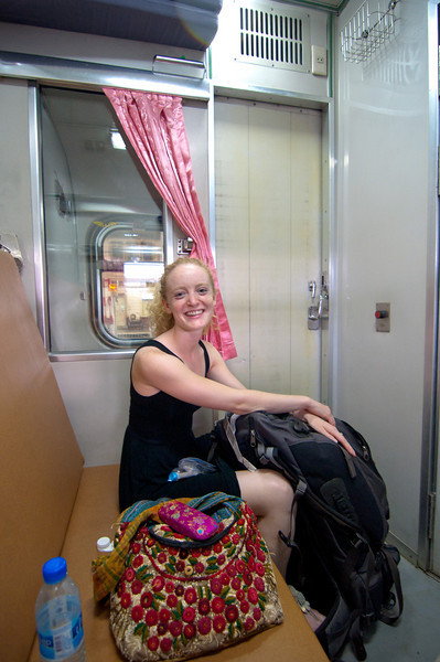 This is a 1st class sleeper car in Thailand