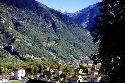 Ludiano, with Malvaglia across the valley.