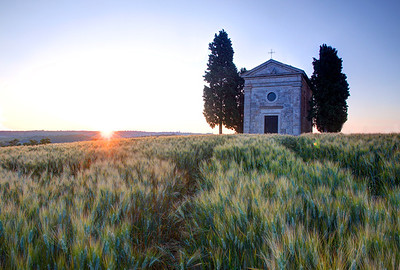 Sunrise at the Cappella di Vitaleta