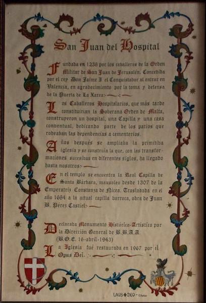History of the Church of San Juan del Hospital