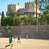 Soccer beneath Las Torres de Serrano
