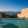 Hotel Phoenicia infinity pool overlooking harbour