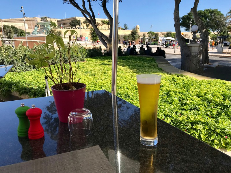 Lunch on hotel terrace bar