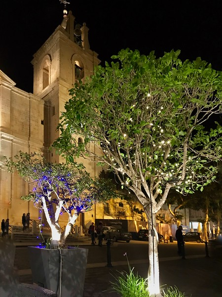 Evening outside Cathedral of St John