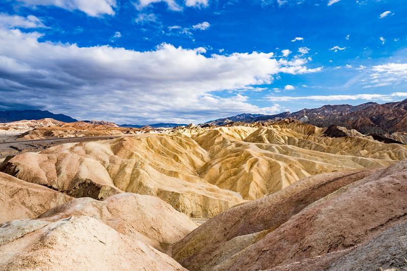 From Zabriski Point in Death Valley