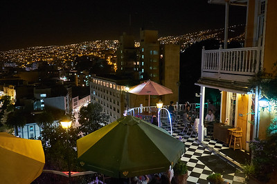 Valparaiso view by night.