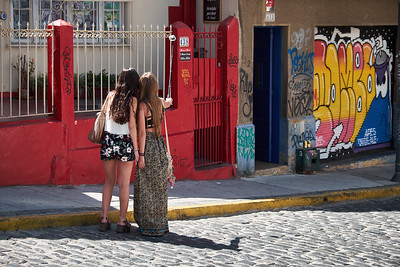 Tourists in Valparaiso.