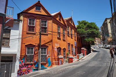 Steep streets in Valparaiso.