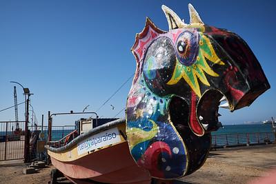 Funny boat, Valparaiso.
