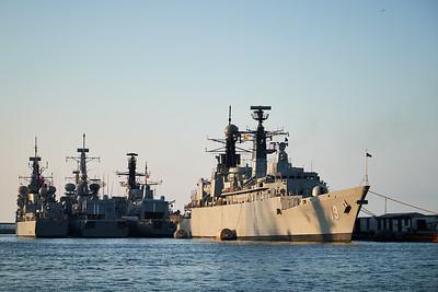 Chilean navy ships, Valparaiso.