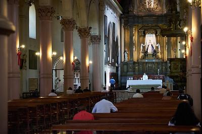 Church mass, Santiago.