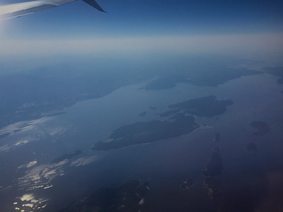 Gulf Islands with Penelakut (nee Kuper) and Thetis Islands in the centre