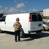 After visiting with friends in Durham, NC and Savannah, GA, they arrived at Daytona Beach, where you can drive on the beach, even in a heavy van!