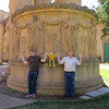 Being funny at the Palace of Fine Arts.