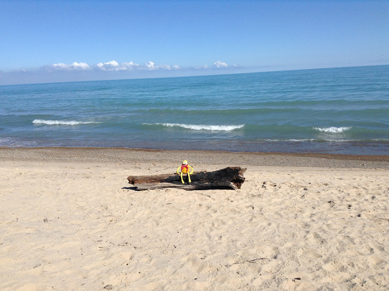 Soon it was time to head west. They made it to Indiana Dunes on Lake Michigan the first day.