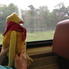 The next day it was off to Chicago on Flat's first train ride!