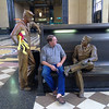 And he got to meet some WW2 GIs at Union Station.