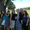 It was windy at church, but hey, we TRIED to get a picture of all the ladies.