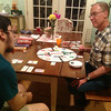 My brother Jon came out from Vancouver BC to visit Mom for Mother's Day. Playing Monopoly with Ben.