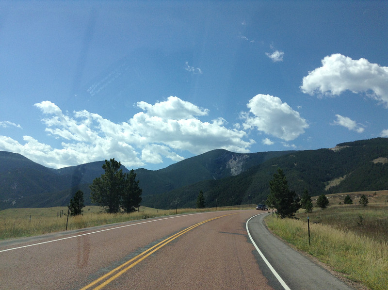 Heading toward Yellowstone