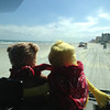 Feb. 9 - Everyone wants to drive on Daytona Beach (it costs $5). Teddy and Flat enjoyed it very much.
