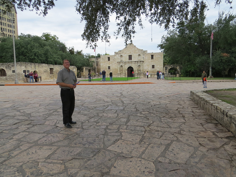 In San Antonio, of course we had to visit the Alamo!