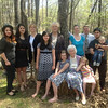 April 21 - Art, Mom, and I with the girls and seven of our grandchildren.