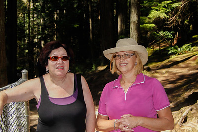 Carol and Naomi in Lynn Canyon Park.