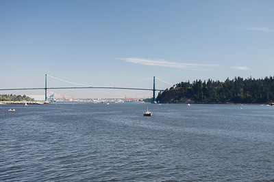 Lions Gate Bridge from West Vancouver.
