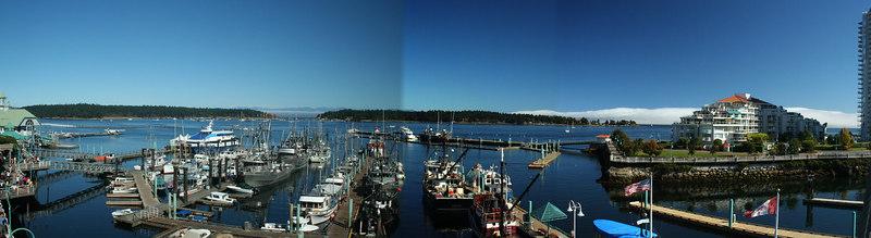 A panorama of Nanaimo, BC.