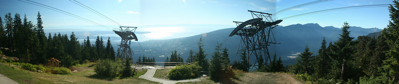 The view from the chalet of Grouse Mountain